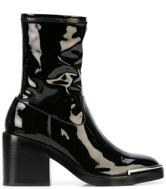 Alexander Wang patent ankle boots