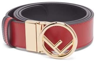 Fendi Logo Buckle Leather Belt - Womens - Black