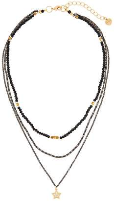 Nakamol Mixed Bead Triple-Layer Star Pendant Necklace