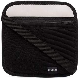 Byborre black and grey pouch leather and cotton bag