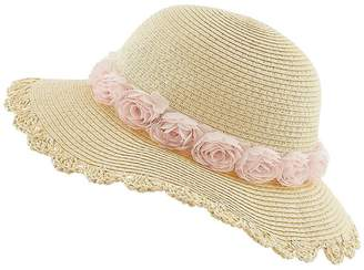 Monsoon Girls Ianthe Chiffon Flower Flopy Hat