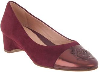 Taryn Rose Suede Wedge Pumps - Babe
