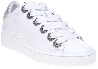 Coach New Womens White Metallic C101 With Tea Rose Eyelets Leather Trainers Lace
