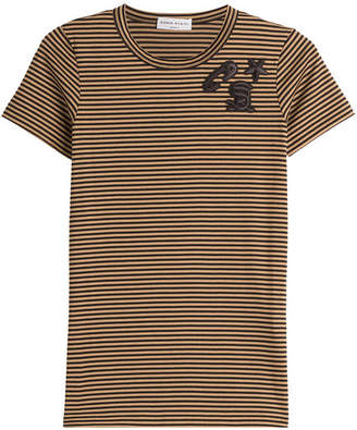 Sonia Rykiel Striped Cotton T-Shirt with Embroidery
