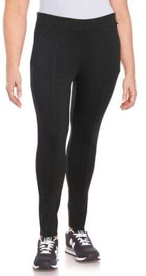 Calvin Klein Plus Seam-Detail Stretch Pants