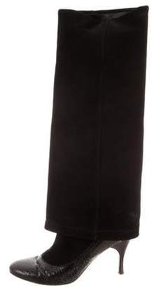 Marc Jacobs Suede Knee-High Boots Black Suede Knee-High Boots