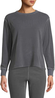 Amo Denim Cotton Crewneck Pullover Sweatshirt