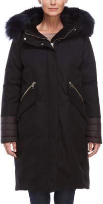 Soia & Kyo Real Fur Trim Winter Coat