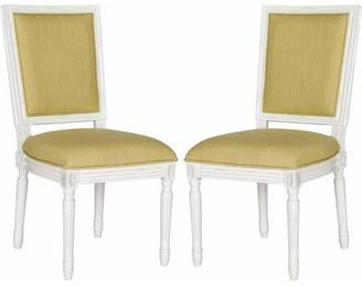 Safavieh Buchanan Rectangular Side Chair, Set of 2, Multiple Colors