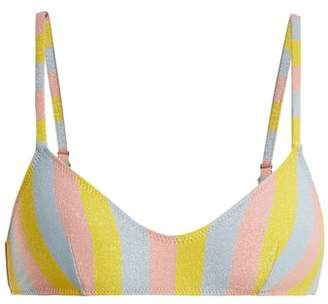 Solid & Striped The Rachel Striped Bandeau Bikini Top - Womens - Multi Stripe