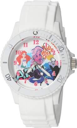 Disney Women's 'Princess Ariel' Quartz Plastic Casual Watch, Color: (Model: WDS000209)