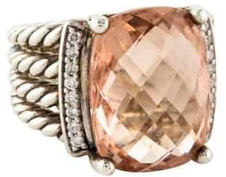 David Yurman Morganite & Diamond Wheaton Ring
