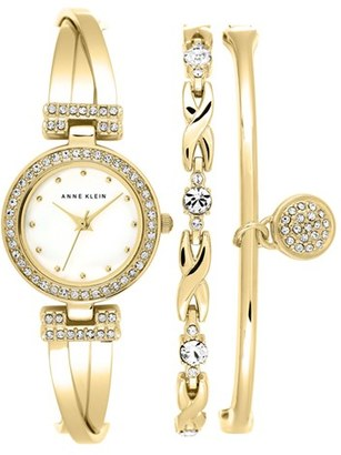 Women's Anne Klein Watch & Bangles Set, 24Mm $150 thestylecure.com