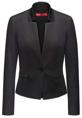HUGO Boss Cotton Blend Blazer Abaya 2 Black