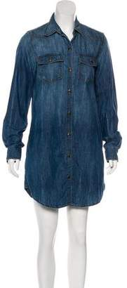 Current/Elliott Long Sleeve Denim Dress