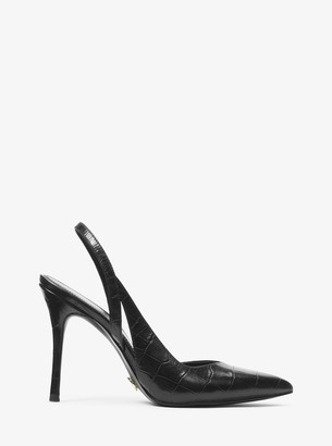 MICHAEL Michael Kors Eliza Crocodile-Embossed Leather Pump