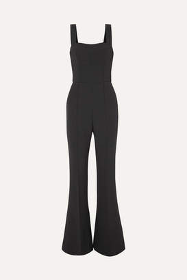 Rebecca Vallance L'amour Flared Stretch-crepe Jumpsuit - Black
