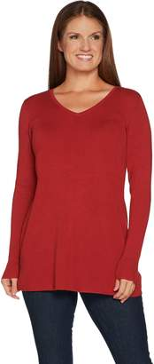 Belle By Kim Gravel Belle by Kim Gravel Fit and Flare V-Neck Tunic Sweater