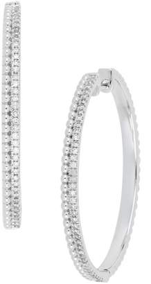 Carriere JEWELRY Large Diamond Hoop Earrings