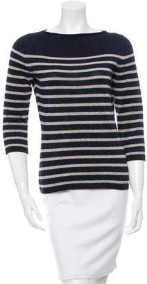 Jean Paul Gaultier Striped Long Sleeve Top $75 thestylecure.com