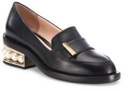 Nicholas Kirkwood Casati Pearly Heel Leather Loafers $895 thestylecure.com