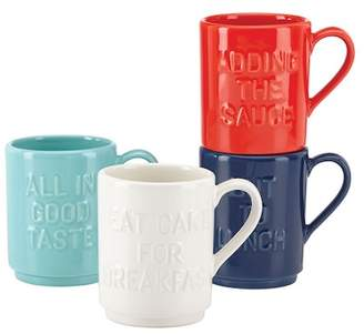 Kate Spade Pretty Pantry Stacking Mugs - Set Of 4