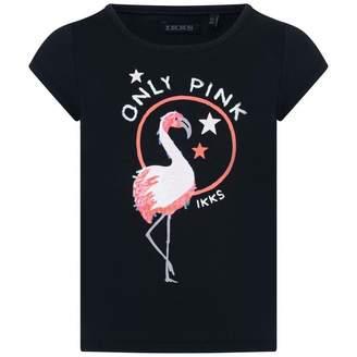 Ikks IKKSGirls Navy Flamingo Print Top