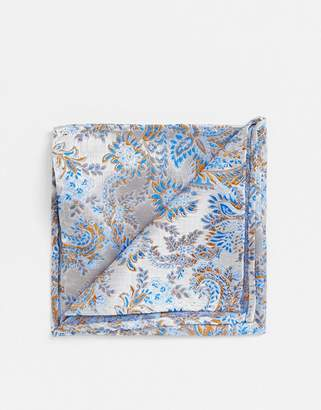 Twisted Tailor pocket square in blue floral