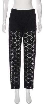 Chanel Mid-Rise Lace Pants
