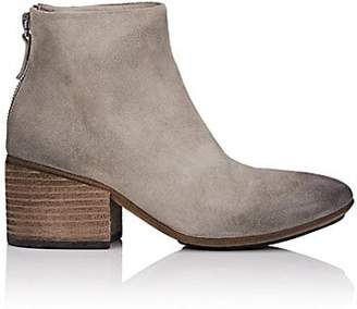 Marsèll Women's Back-Zip Distressed Suede Ankle Boots - Gray