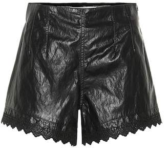 Philosophy di Lorenzo Serafini Faux leather shorts