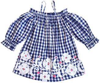 Co SOPHIE CATALOU Sophie Catalou Kara Embroidered Gingham Dress