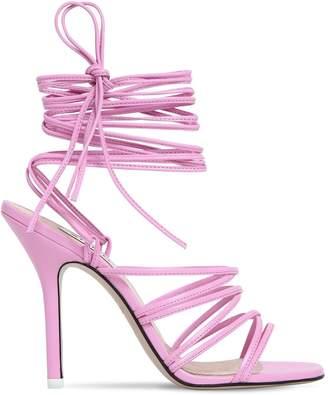 ATTICO 100mm Sasha Leather Lace-up Sandals