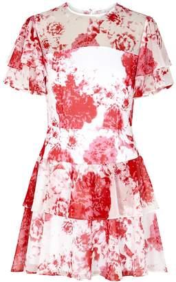Keepsake Enchanted Printed Chiffon Mini Dress