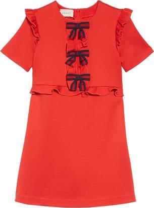 Gucci Ruffle & Bow Dress