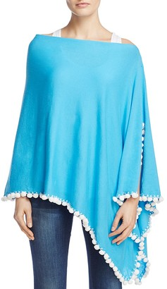 Minnie Rose Embellished Cashmere Ruana $181 thestylecure.com