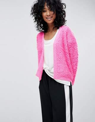 Asos DESIGN Cardigan With Bobble Stitch
