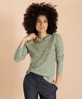 Brooks Brothers Diamond Pointelle Sweater