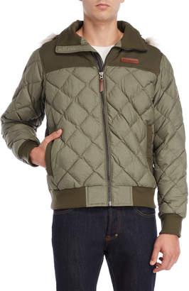 Columbia Faux Fur Hooded Dechen Bomber Jacket