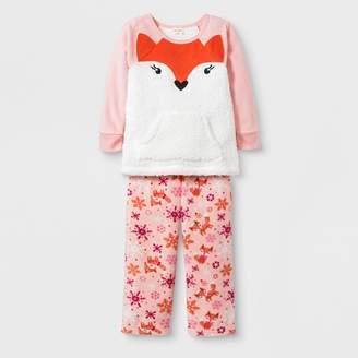 Cat & Jack Toddler Girls' 2pc Fox Pajama Set Pink