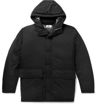 Pilgrim Surf + Supply Roethke Cordura Combat Wool-Blend Ripstop Hooded Down Jacket
