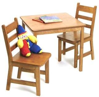 Lipper Child's Square Table & Chairs 3-Piece Set, Multiple Colors
