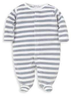 Kissy Kissy Baby's Jungle Out There Striped Footie