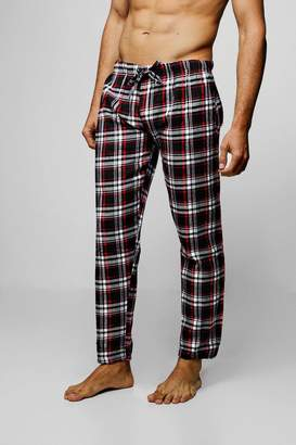 boohoo Polar Fleece Check Lounge Pants