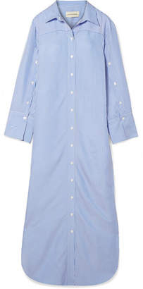 By Malene Birger Middleonso Striped Satin-twill Maxi Dress