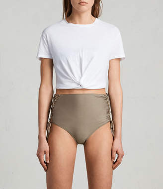 AllSaints Lazo Metallic Highwaist Bottom
