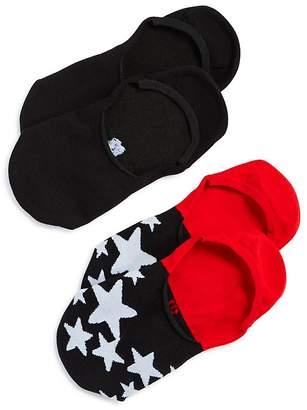 Hue Sneaker Liner Socks, Set of 2