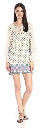 Blu Pepper Women's Boho Print Shift Dress