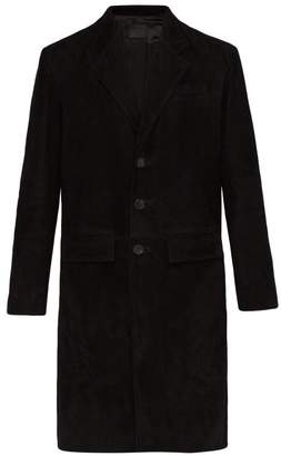 Prada Suede Overcoat - Mens - Black