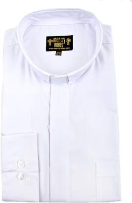 829b1d9e16 Mercy Robes Mens Long Sleeve Standard Cuff Tab Collar Clergy Shirt